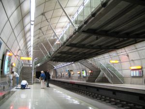 commercial mezzanine floor, train station
